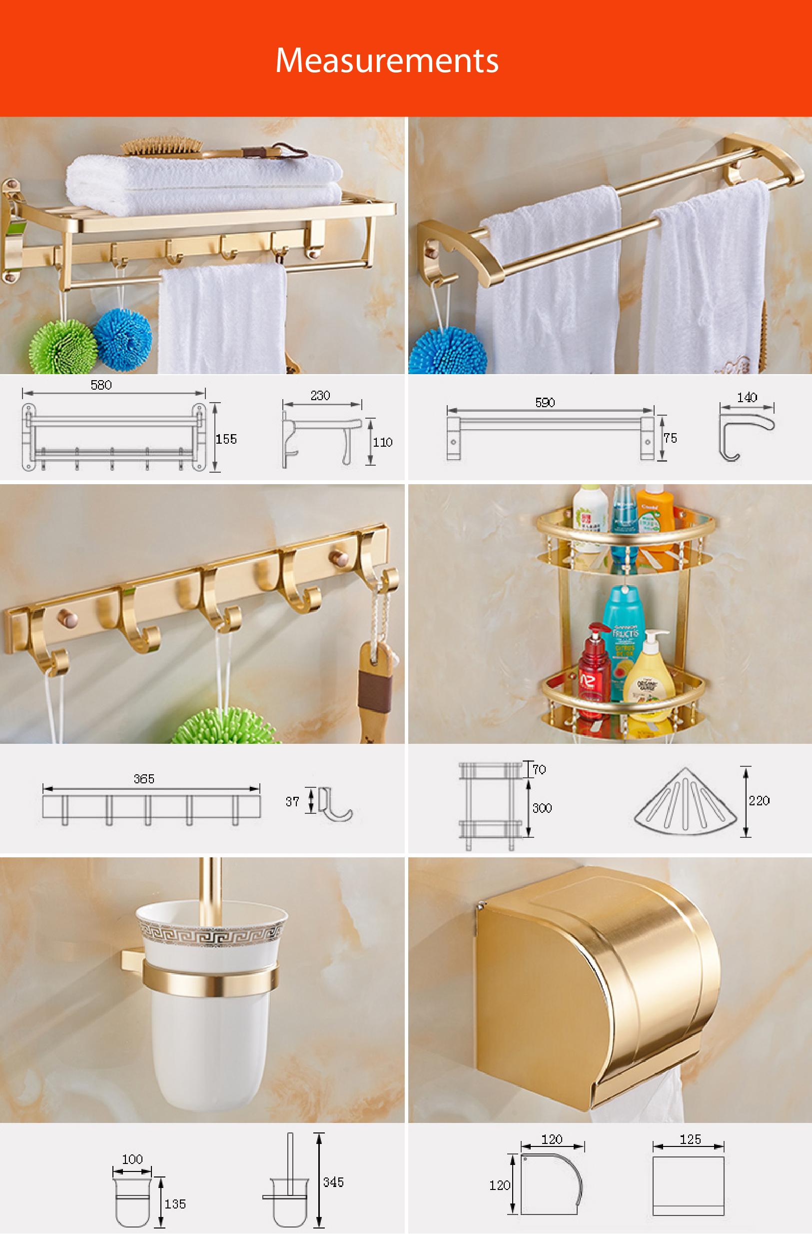 Inovo Dazzle Bathroom Accessories In